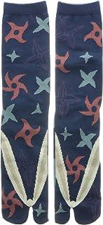 Samurai Market, Calcetines de taburgo japonés, diseño Extreme Orient Collection 3 Shuriken Talla única