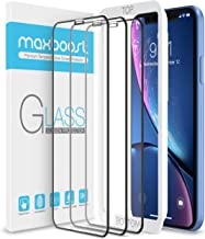 Maxboost Edge-to-Edge Screen Protector for Apple iPhone XR (6.1-Inch)(3 Pack) [Touch Accurate] Full Framed Tempered Glass Screen Protector Compatible with iPhone XR 2018 - Pack of 3