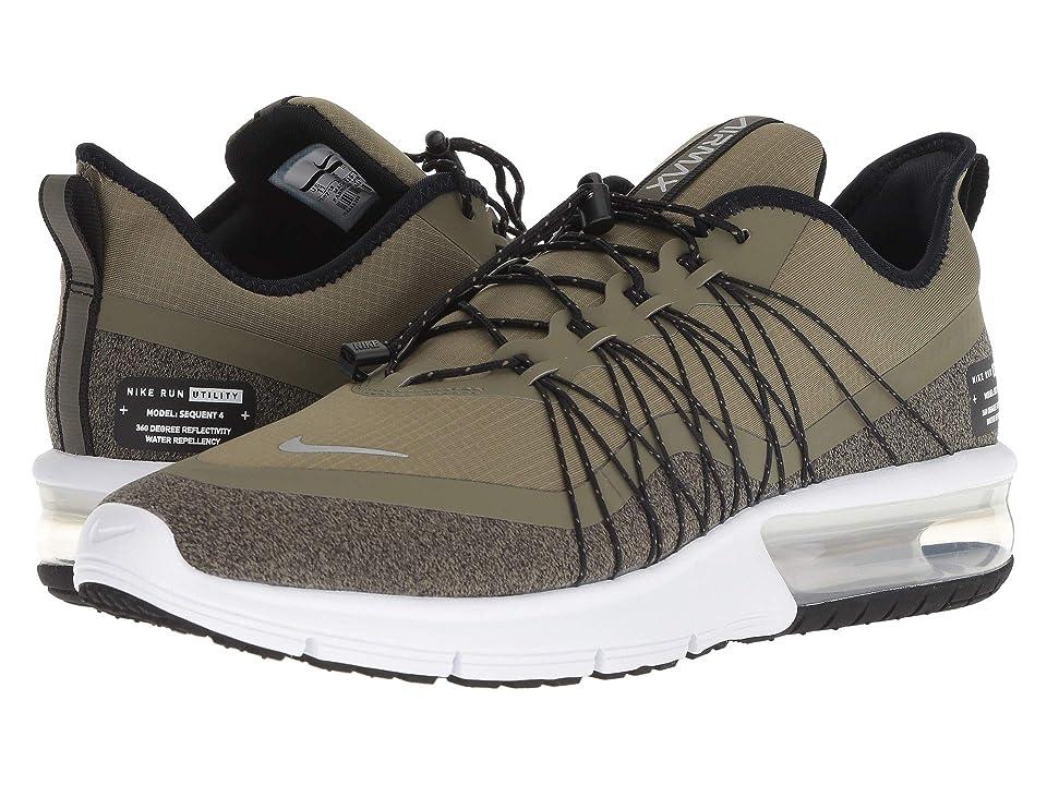 Nike Air Max Sequent 4 Shield (Medium Olive/Metallic Silver/Black/White) Men