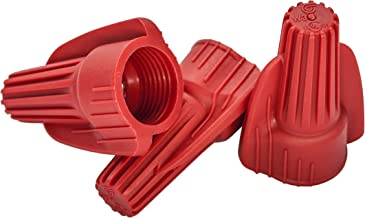 100 PCS Red Winged Wire Connectors, Easy Twist-On Ribbed Cap - UL Listed and CSA Certified