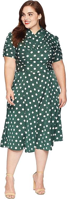 Plus Size 1940s Style Camilla Midi Dress