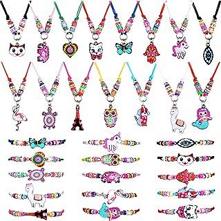 دستبندهای دوستی 30 تکه دستبند دوستی و جواهر گردنبند آویز حیوانات برای دختران کوچک ، 15 سبک