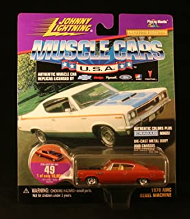 1970 AMC REBEL MACHINE * COLLECTOR NO. 49 * Johnny Lightning 1999 MUSCLE CARS U.S.A. COLLECTION 1:64 Scale Die Cast Vehicle * Limited Edition: 1 of only 10,000 *