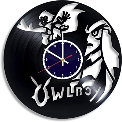 BuhnemoShop Owlboy Video Game Handmade Vinyl Record Wall Clock, Owlboy Wall Poster Unique Kitchen Decor