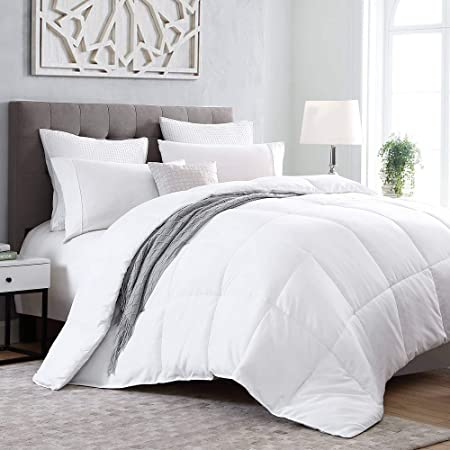 Kingsley trend White Down Alternative Comforter - King (104 x 92) Duvet Insert All-Season Soft Comforter, Machine Washable