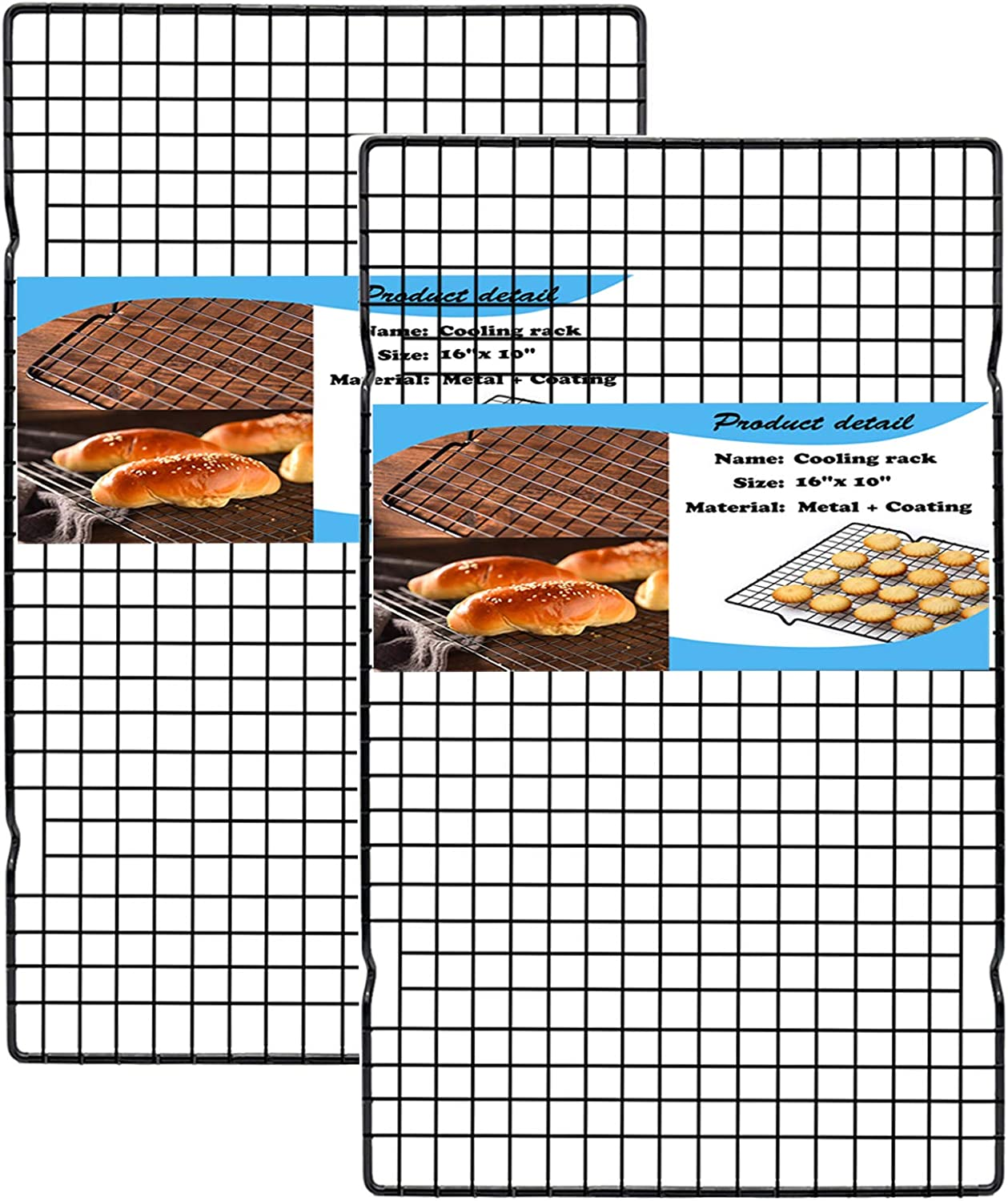 HILELIFE Cooling Rack Max 74% OFF Max 70% OFF Baking 16 2Pcs Cookie