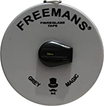 Sd Enterprises Plastic Freemans Fibra Fiber Glass Measuring Tape (30 M, Grey And Black)