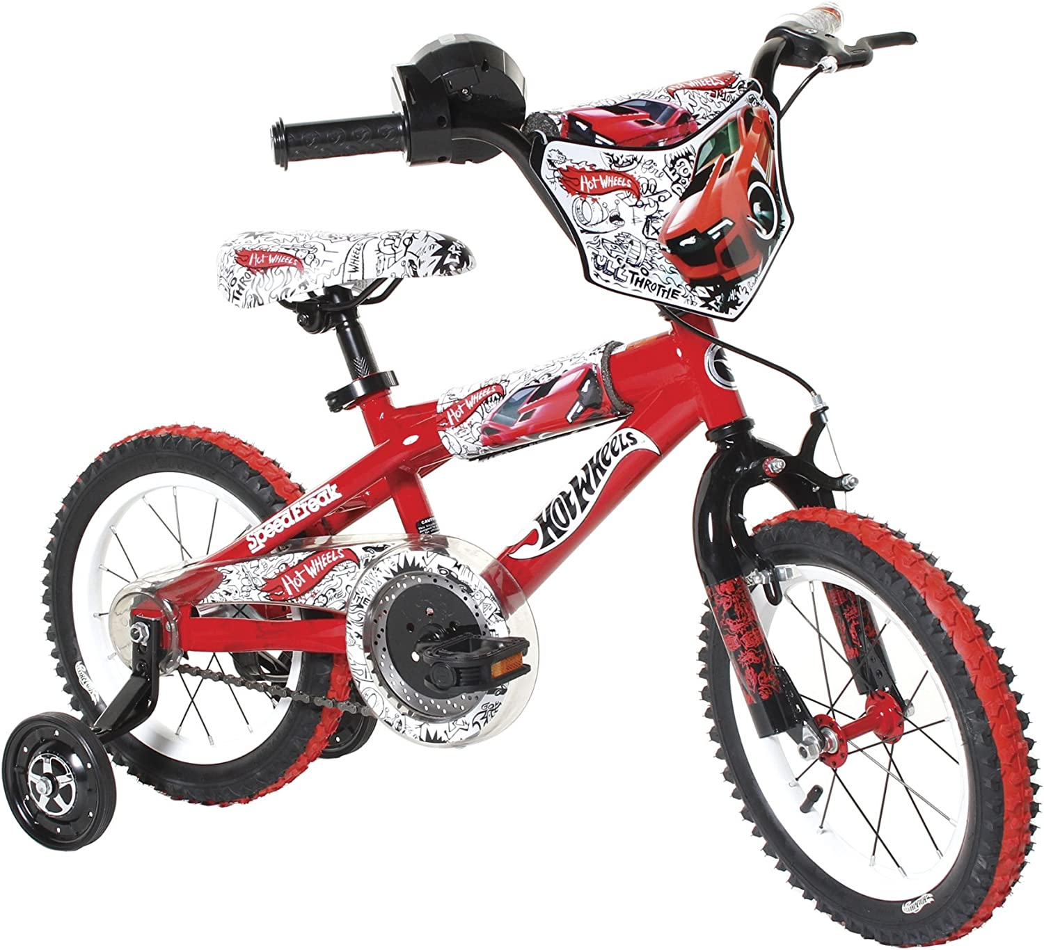 Dynacraft Boy's 14Inch Hot Wheels Bike, Red White Black