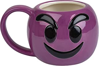 Emoji Coffee Cups-Free KCup of Gourmet Coffee-12 oz Emoji Coffee Mugs Great for Hot Cocoa, Soup or as a Candy Jar-Totally Unique Gift Idea (Little Purple Devil)