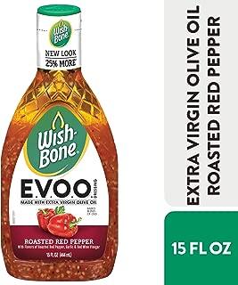 Wish-Bone Extra Virgin Olive Oil Blend Roasted Red Pepper Dressing, 15 FL OZ