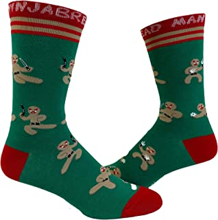 Ninja Bread Man Socks Funny Gingerbread Christmas Ninja Novelty Footwear
