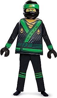 Disguise Lloyd Lego Ninjago Movie Deluxe Costume, Green, Small (4-6)