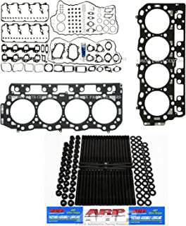 ARP Studs & Head Gasket kit compatible with 2004-2007 Duramax 6.6L LLY LBZ Diesel.95mm Thick Head gaskets (.0374