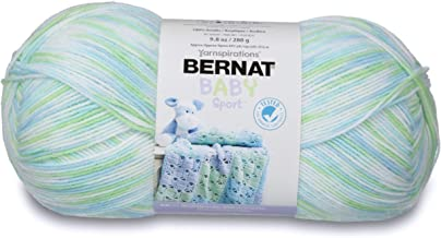 Bernat Baby Sport Big Ball Ombre Yarn, 9.8 oz, Gauge 3 Light, 100% Acrylic, Funny Prints