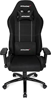 AKRacing Core Series EX Gaming Chair with High Backrest, Recliner, Swivel, Tilt, Rocker and Seat Height Adjustment Mechanisms with 5/10 Warranty - Black (Renewed)