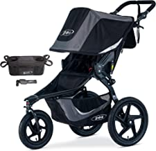 BOB Revolution Flex 3.0 Jogging Stroller, Graphite Black with Handlebar Console and Tire Pump