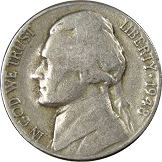 1948 D 5c Jefferson Nickel US Coin Average Circulated