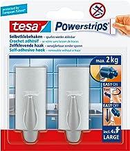 tesa 58055-04-03 tesa Powerstrips Haken Large Trendy Chroom (mat)