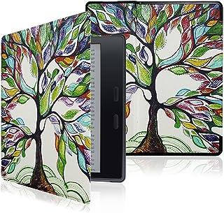 Capa para Kindle Oasis 9a geração (2017-2018) - Fecho magnético - Liga Desliga - Árvore Colorida