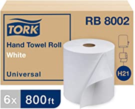Tork Universal RB8002 Hardwound Paper Roll Towel, 1-Ply, 7.87
