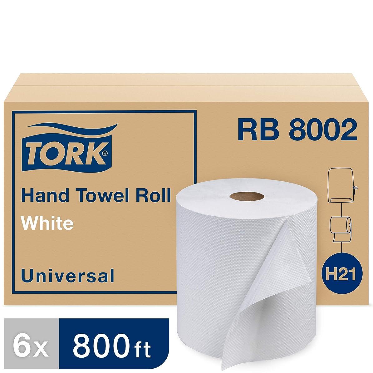 ラリー当社削減Torkユニバーサルrb8002?Hardwoundロール紙タオル、1-ply、7.87?
