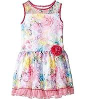 Us Angels - Sleeveless Illusion Drop Waist Lace Dress (Toddler/Little Kids)