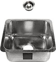 Sinkology SP701-17HSP-AMZ-D Wilson Undermount 17 Polished Finish and Disposal Drain Crafted Stainless Steel Bar and Prep Sink,