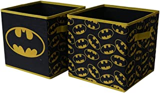 BATMAN Collapsible Storage Cube, Black (Pack of 2), (Model: NK371779)