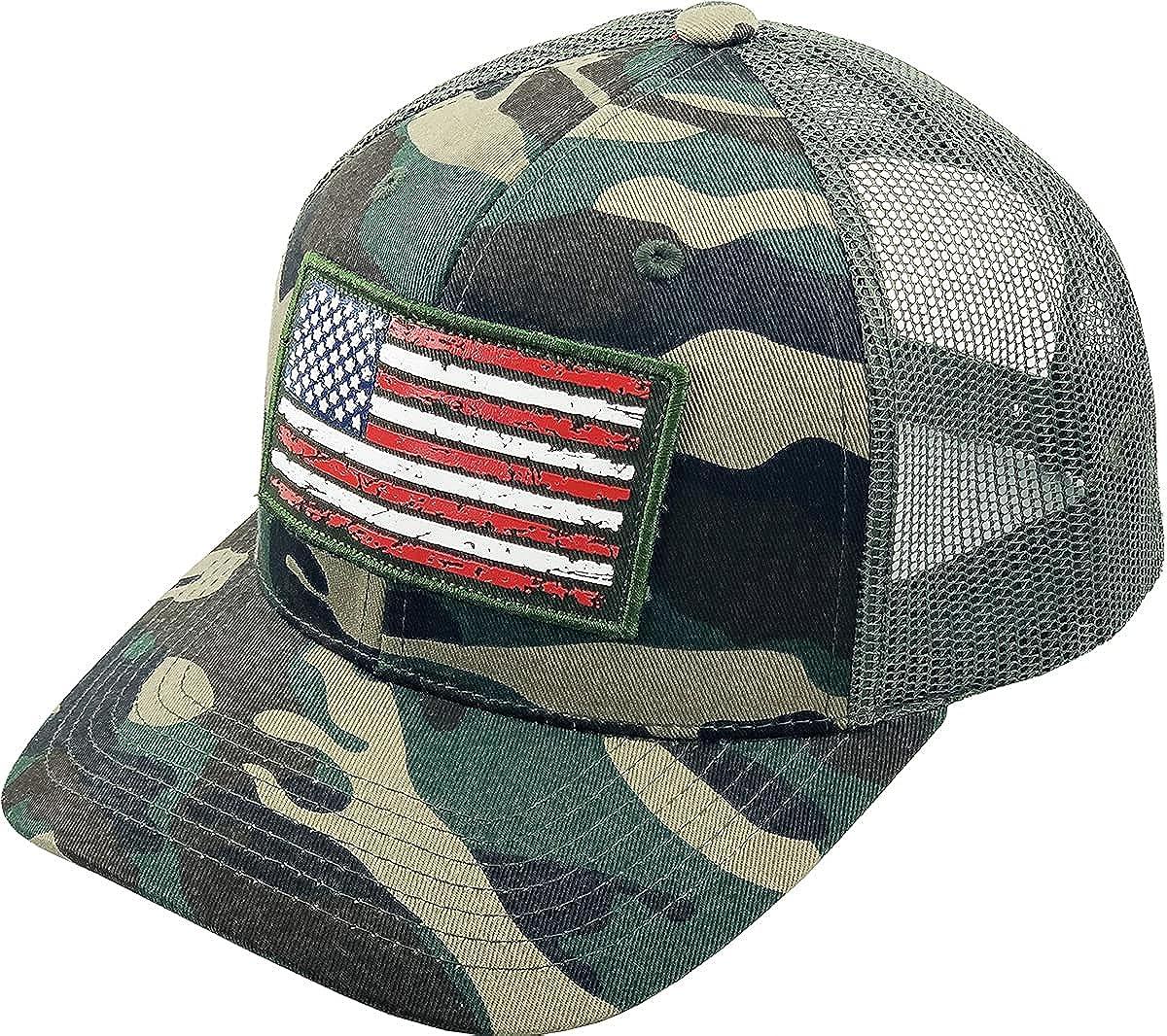 Funky Junque Mens Snapback Hat Max 84% OFF American Baseball Flag Trucker Ca OFFer