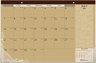 Kraft Desk Calendar 2019-2020 | 18 Months (July 2019 - December 2020) | Size - 11