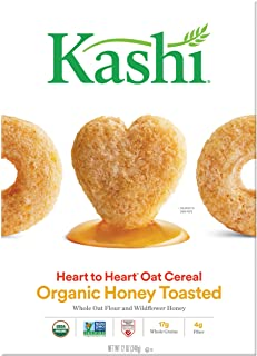 Kashi Heart To Heart Honey Toasted Oat Cereal, 12-Ounce Boxes (Pack of 6)