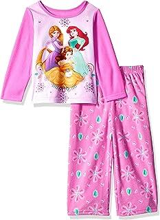 Disney Girls' Multi-Princess 2-Piece Fleece Pajama Set