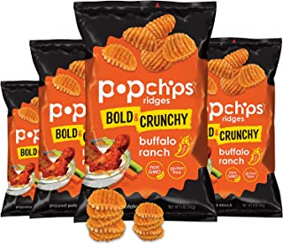 popchips Ridges Buffalo Ranch, Gluten Free, 5 oz Bag (Pack of 4)