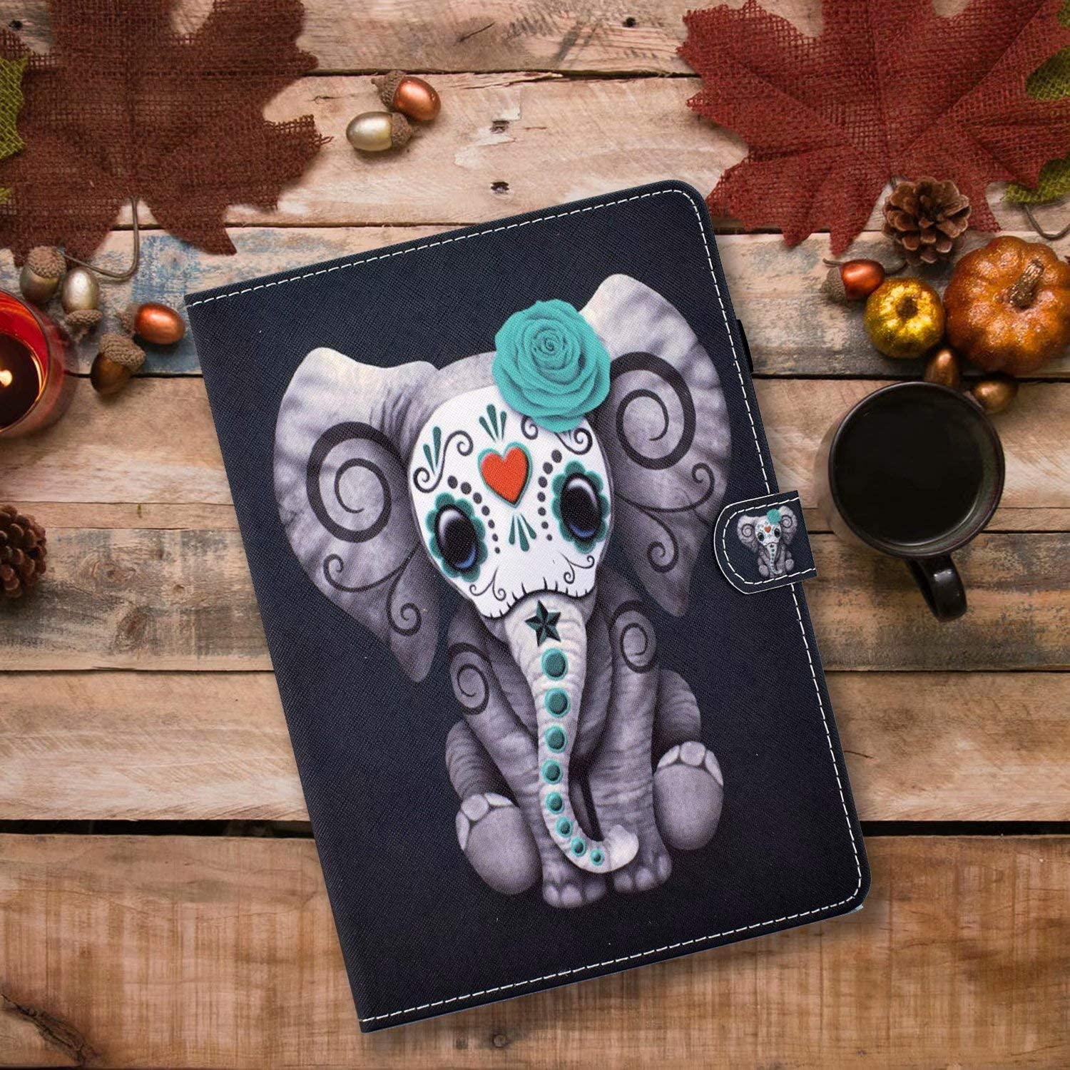 KSHOP Compatible with tablet Case Cover for Apple iPad 5th//6th.iPad Air 1.iPad Air 2.Apple iPad 9.7 inch 2017//2018.iPad Pro 9.7-inch Smart Case Auto Wake//Sleep Cover Stylus Touch Pen tiger
