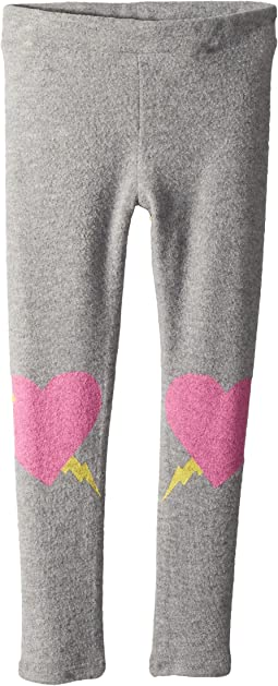 Chaser Kids Soft Love Knit Heart Knees Leggings (Toddler/Little Kids)