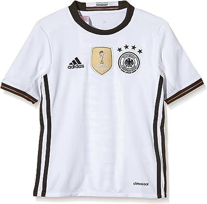 adidas Germany UEFA Euro 2016 Home Jersey - Youth - White/Black -