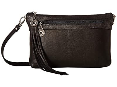 Leatherock Phoenix Bag (Black) Cross Body Handbags