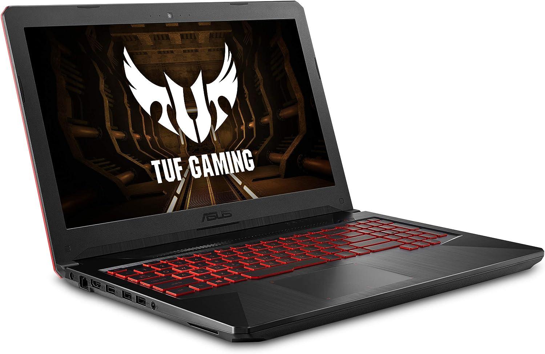 "ASUS FX504 Thin & Light TUF Gaming Laptop, 15.6"" Full HD, 8th Gen Intel Core i7-8750H Processor, GeForce GTX 1050 Ti, 8GB DDR4, 256GB M.2 SSD, Gigabit WiFi, Windows 10 - FX504GE-ES72"