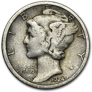 1924 S Mercury Dime Good/Fine Dime Good
