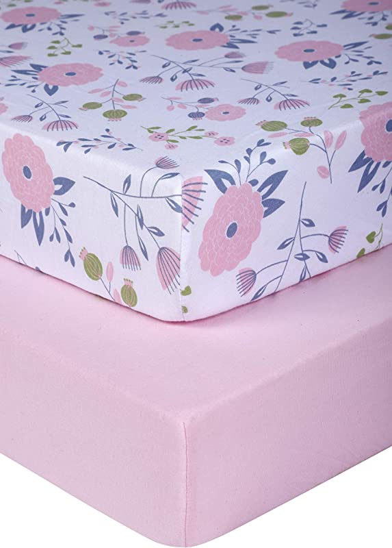 Pickle Pumpkin Graco Pack N Play Mattress Sheet 2 Pack Mini Crib Sheets In 100 Organic Jersey Cotton Ideal As Pack And Play Mattress Playpen Or Playard Sheets Pink Floral Crib Sheet