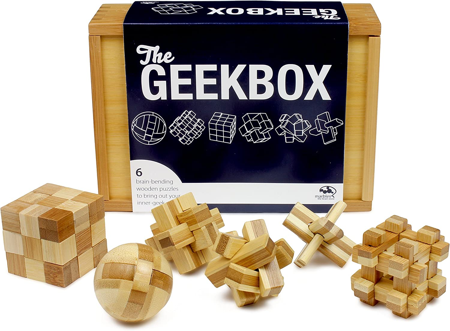 Marbles the Brain Store Geek Box Wooden Puzzle (6 Piece) by Marbles  The Brain Store