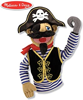 Melissa & Doug Pirate Puppet with Detachable Wooden Rod (Puppets & Puppet Theaters, Animated Gestures, Inspires Creativity, Great Gift for Girls and Boys - Best for 3, 4, 5 Year Olds and Up)