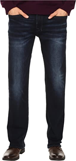 Buffalo David Bitton Six Straight Leg Jeans in Authentic and Deep Indigo