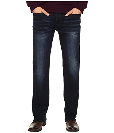 Buffalo David Bitton Six Straight Leg Jeans in Authentic and Deep Indigo (Authentic/Deep Indigo) Men