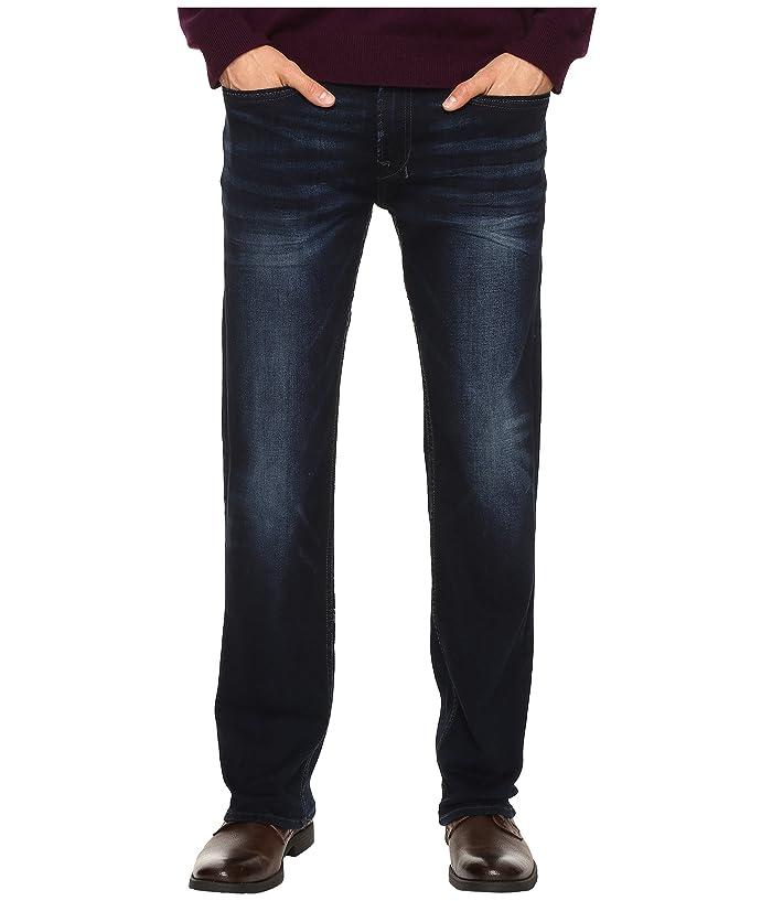 Buffalo David Bitton Six Straight Leg Jeans In Authentic And Deep Indigo