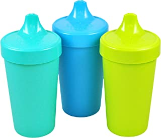 Re-Play Made in The USA 3pk No Spill Sippy Cups for Baby, Toddler, and Child Feeding..