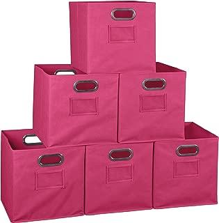 NICHE Set of 6 Cubo Foldable Fabric Bins- Pink
