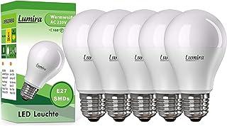 5 x LED SMD lámpara LUMIRA E27 10 W vatios bombilla luz 160° A60 900 lumens luz blanca cálida