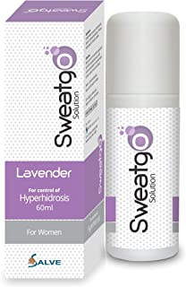 Salve Sweatgo Anti perspirant Hyperhidrosis Sweat For Healthy Skin For women in Exclusive Fragrance - Lavender 60 ml