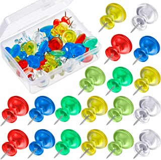 50 Pieces Jumbo Push Pins Giant Pushpins 1 Inch Map Thumb Tacks Plastic Head Push Pins for Cork Boards, Office School Supp...